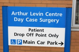 Arthur Levin Day Surgery Unit Sign