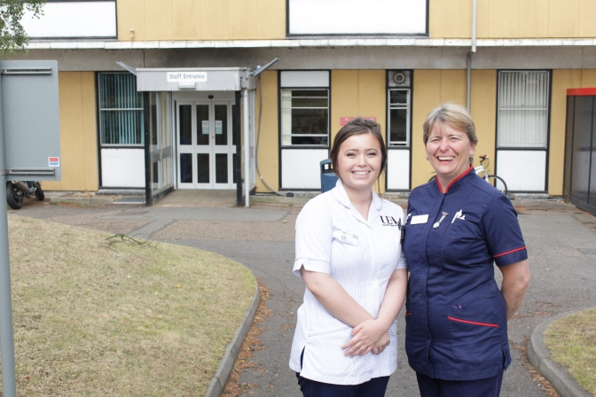 Student nurse helped to fulfil her dream