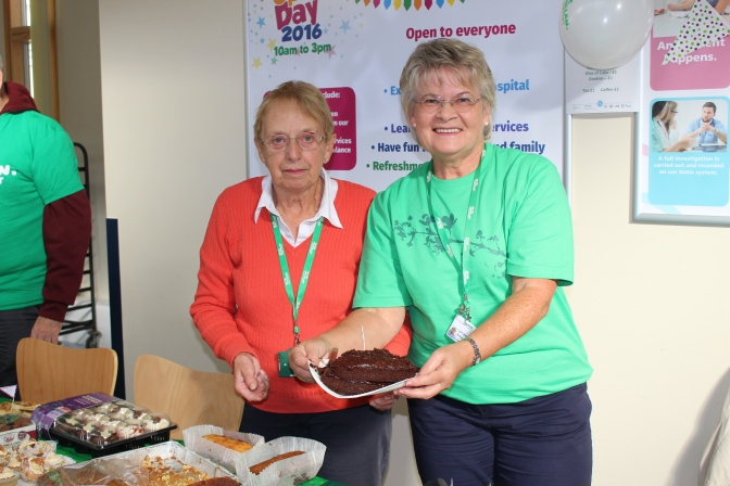 QEH volunteers raise nearly £1,000 for Macmillan at the World's Biggest Coffee Morning