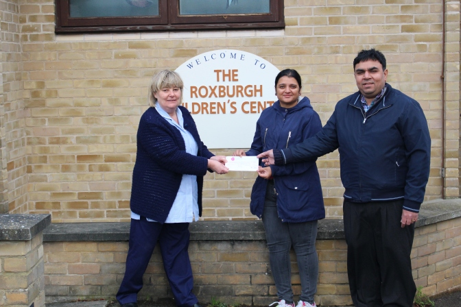Donation of £1541 really does make a difference to the Roxburgh Children's Centre