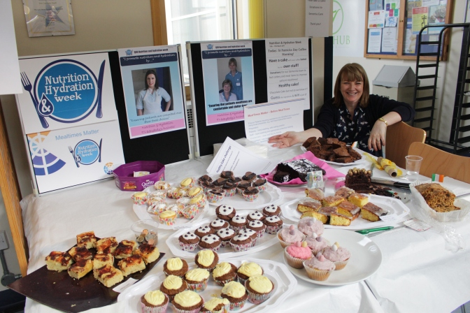 QEH staff bake cakes in fundraising sale for Nutrition and Hydration week