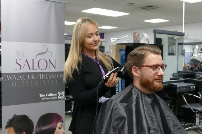 Cutting edge haircuts for Excel charity