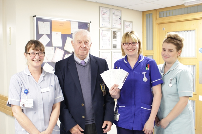 Octogenarian Tony Hicks supports QEH