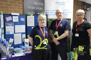 Wendy Sayers, Andy Peacock and Anne Bigger of Alzheimer's Society