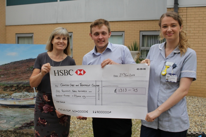 Generous 18-year-old raises £1,313 for the QEH in memory of Nan
