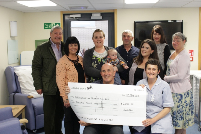 David Isbell gives back to The Queen Elizabeth Hospital
