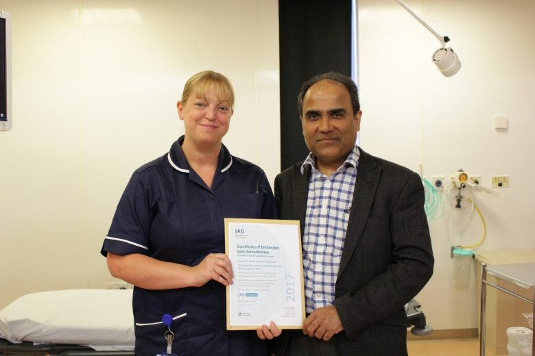 Unit manager Helen Smith and Dr Shailesh Karanth