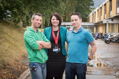 Mark Fletcher, Amy Haynes and Chris Butcher