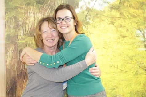 Eileen Smedmor with Amy Burger