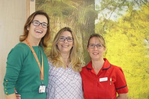 Emma Matthews with Amy Burger and Elaine Rudd