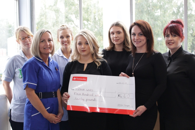 GH Hair Design donate £440 to Rudham Ward