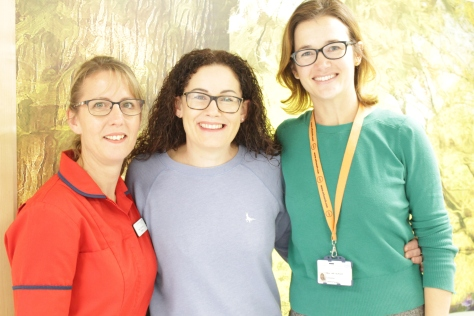 Lucy Drew with Elaine Rudd and Amy Burger