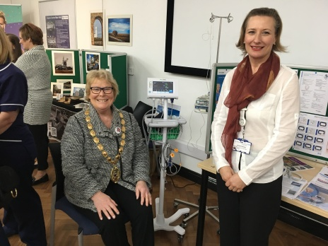 Mayor Cllr Carol Bower and Suzanne Edwards