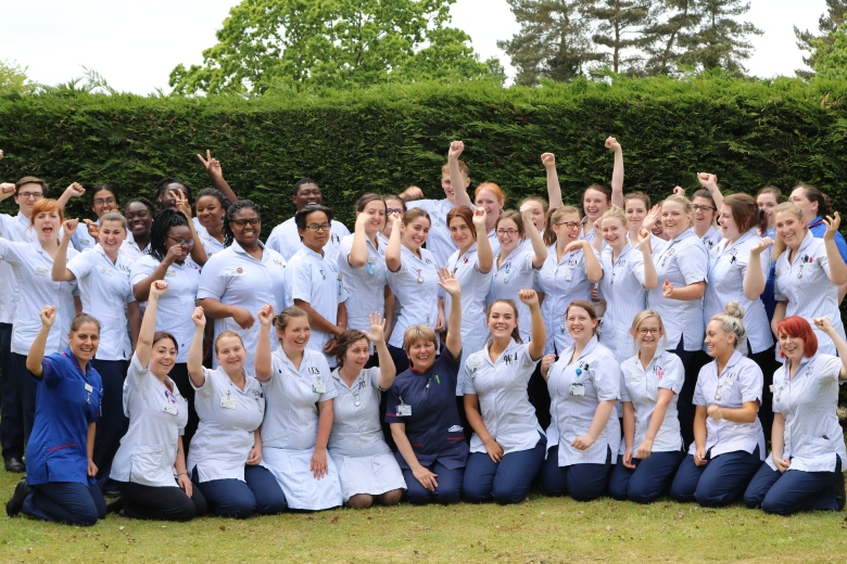 3rd year student nurses cheer