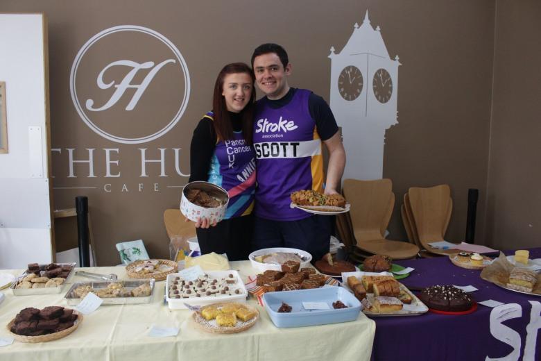 Annie Giles and Scott Ablett bake sale