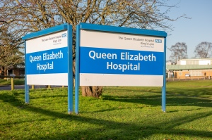 QEH entrance sign